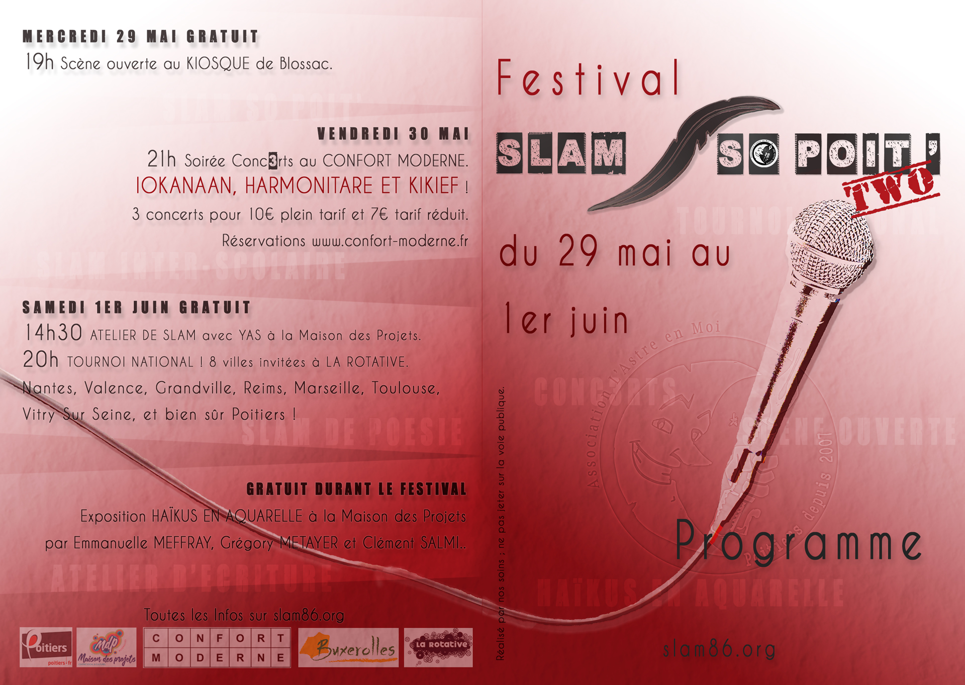 Slam So Poit' two Programme couv